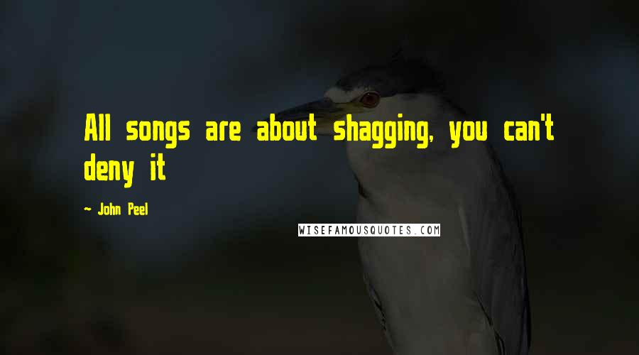 John Peel quotes: All songs are about shagging, you can't deny it