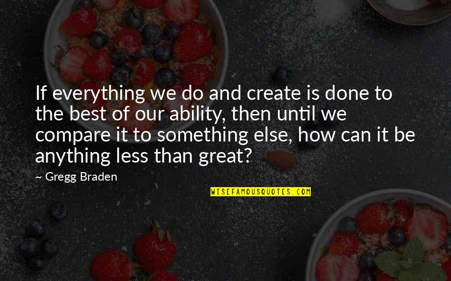 John Priestley Quotes By Gregg Braden: If everything we do and create is done