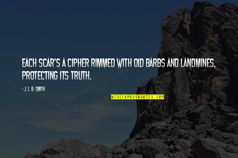 John Priestley Quotes By J. L. B. Smith: Each scar's a cipher rimmed with old barbs