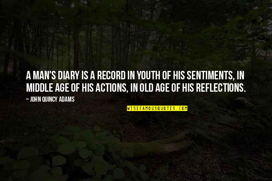 John Quincy Quotes By John Quincy Adams: A man's diary is a record in youth