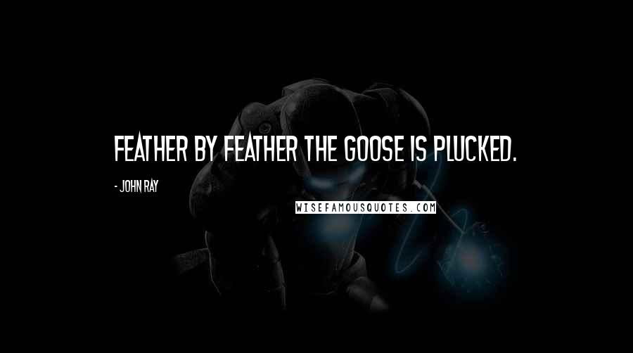 John Ray quotes: Feather by feather the goose is plucked.