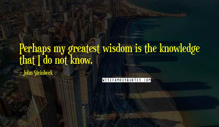 John Steinbeck quotes: Perhaps my greatest wisdom is the knowledge that I do not know.