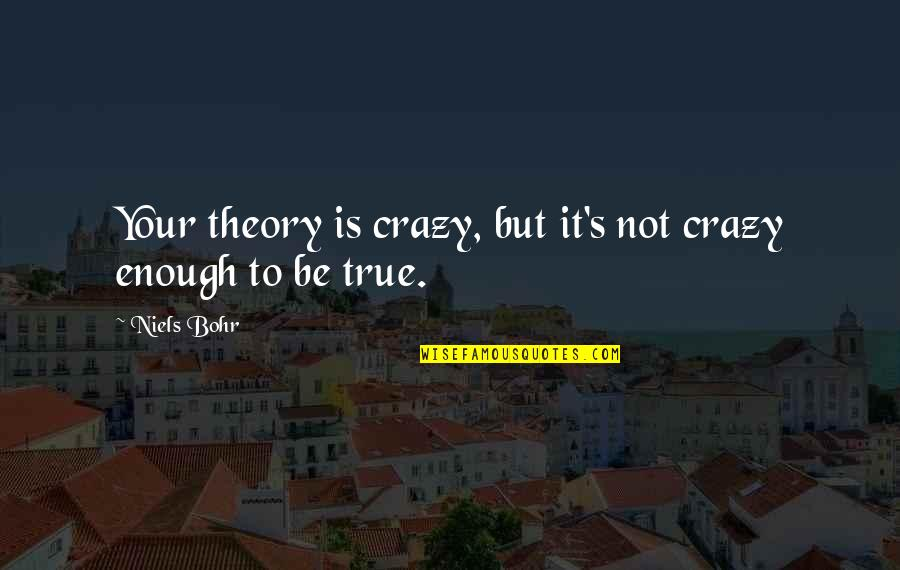 John Webster The White Devil Quotes By Niels Bohr: Your theory is crazy, but it's not crazy