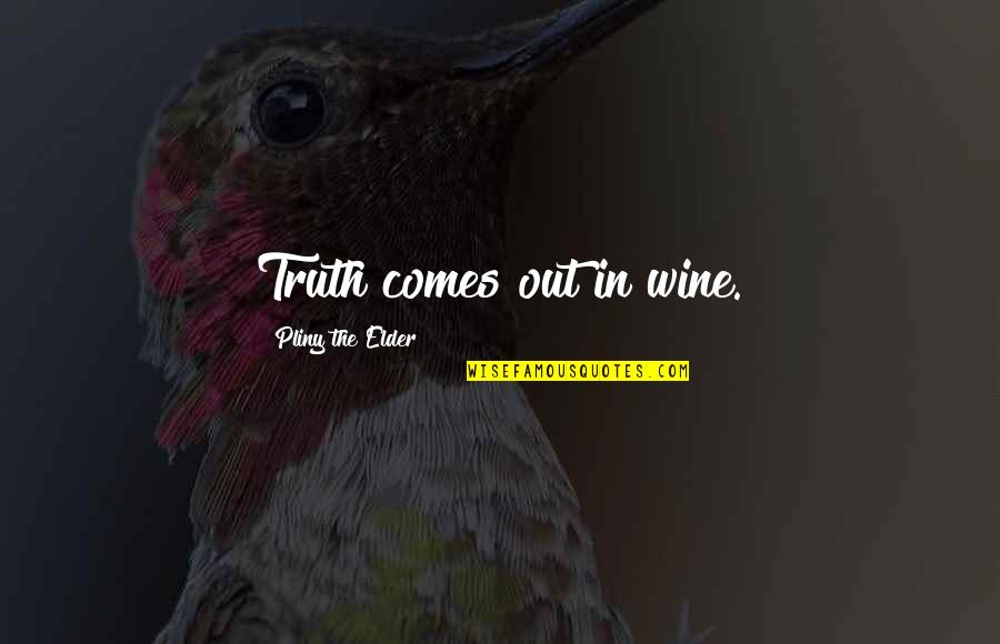 John Wesley Powell Quotes By Pliny The Elder: Truth comes out in wine.