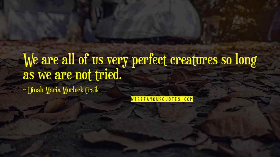 Johnny Flynn Quotes By Dinah Maria Murlock Craik: We are all of us very perfect creatures