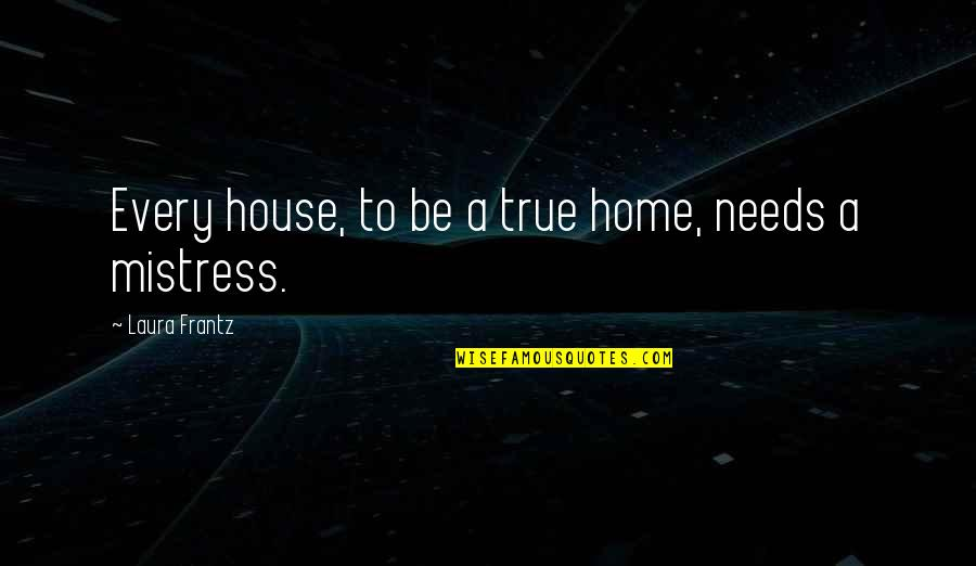 Jokl Quotes By Laura Frantz: Every house, to be a true home, needs