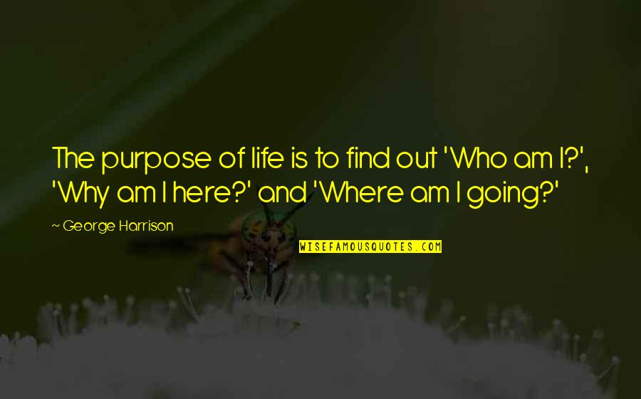 Jon Bernthal Quotes By George Harrison: The purpose of life is to find out
