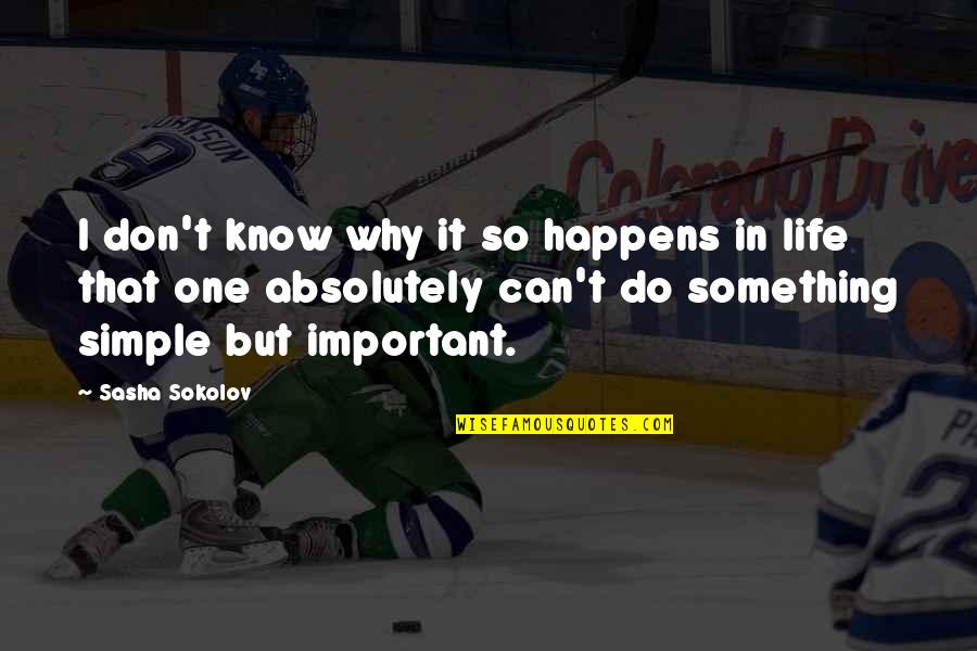 Jon Bernthal Quotes By Sasha Sokolov: I don't know why it so happens in