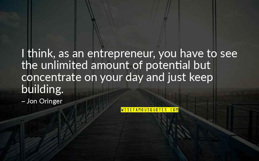Jon Oringer Quotes By Jon Oringer: I think, as an entrepreneur, you have to
