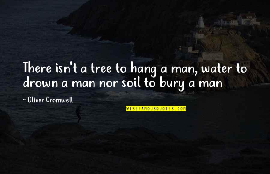 Jonas Valanciunas Quotes By Oliver Cromwell: There isn't a tree to hang a man,
