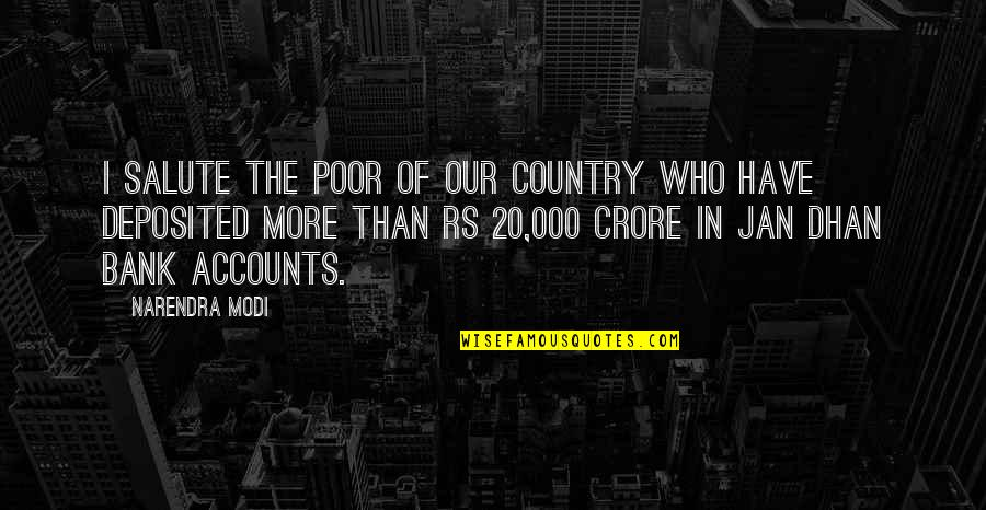 Jose Sanchez Del Rio Quotes By Narendra Modi: I salute the poor of our country who