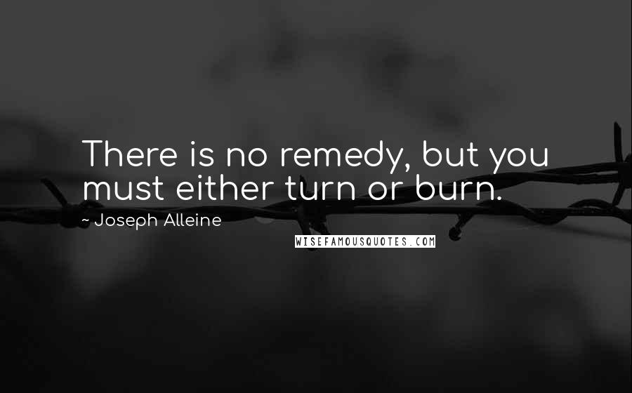 Joseph Alleine quotes: There is no remedy, but you must either turn or burn.