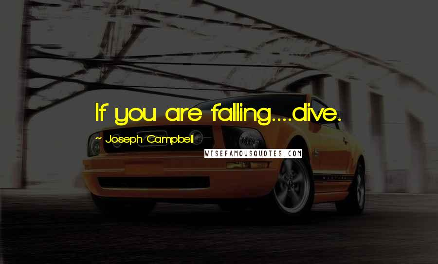 Joseph Campbell quotes: If you are falling....dive.