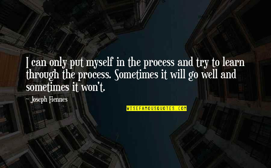Joseph Fiennes Quotes By Joseph Fiennes: I can only put myself in the process