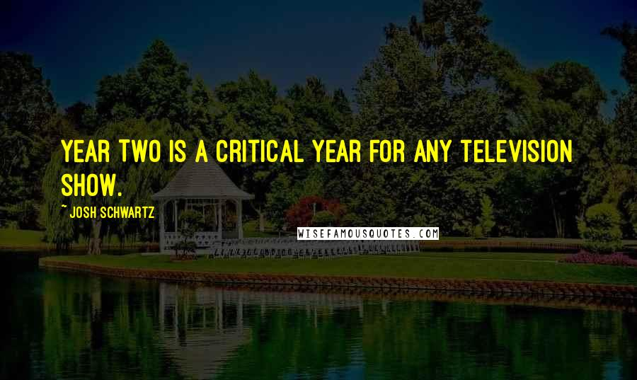 Josh Schwartz quotes: Year Two is a critical year for any television show.
