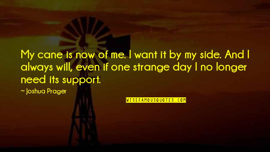 Joshua Prager Quotes By Joshua Prager: My cane is now of me. I want