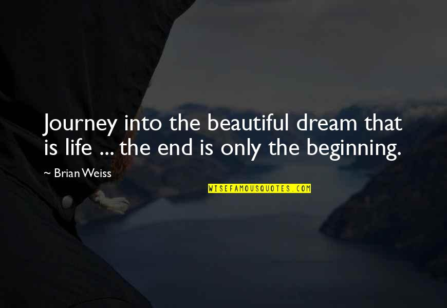 Journey And Dream Quotes By Brian Weiss: Journey into the beautiful dream that is life