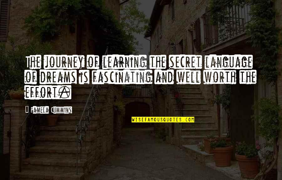 Journey And Dream Quotes By Pamela Cummins: The journey of learning the secret language of