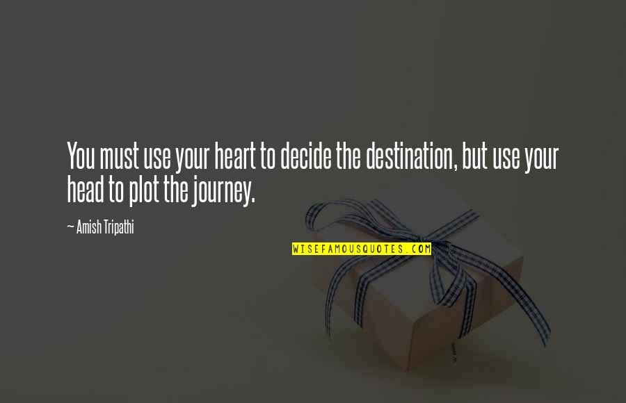 Journey To Destination Quotes By Amish Tripathi: You must use your heart to decide the