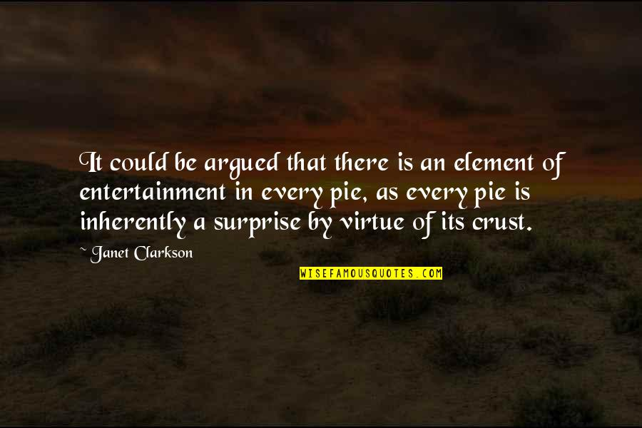 Joy In Bible Quotes By Janet Clarkson: It could be argued that there is an
