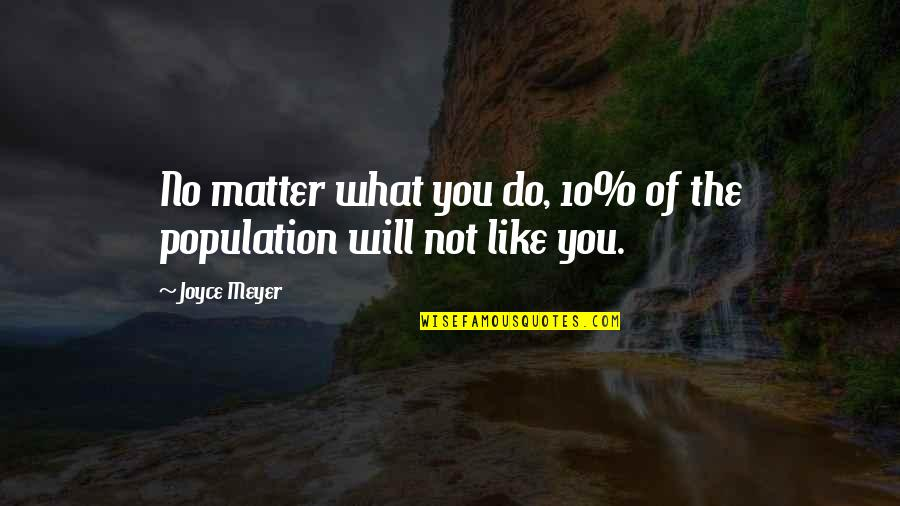 Joy In Bible Quotes By Joyce Meyer: No matter what you do, 10% of the