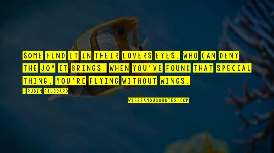 Joy In Quotes By Ruben Studdard: Some find it in their lovers eyes, who