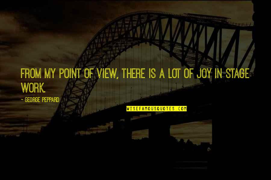 Joy In Work Quotes By George Peppard: From my point of view, there is a