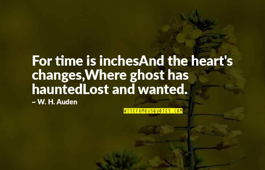 Json.dumps No Quotes By W. H. Auden: For time is inchesAnd the heart's changes,Where ghost