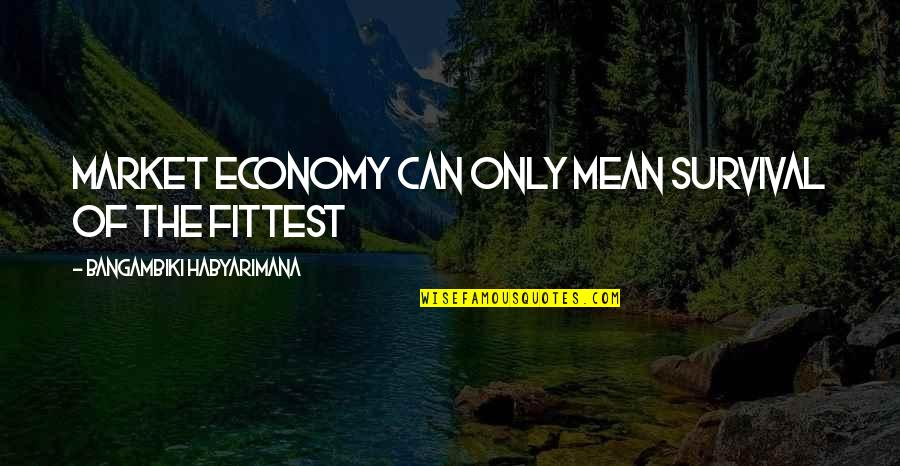 Judge Yourself Not Others Quotes By Bangambiki Habyarimana: Market economy can only mean survival of the