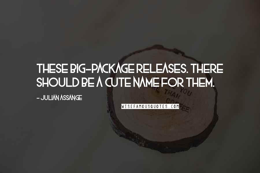 Julian Assange quotes: These big-package releases. There should be a cute name for them.