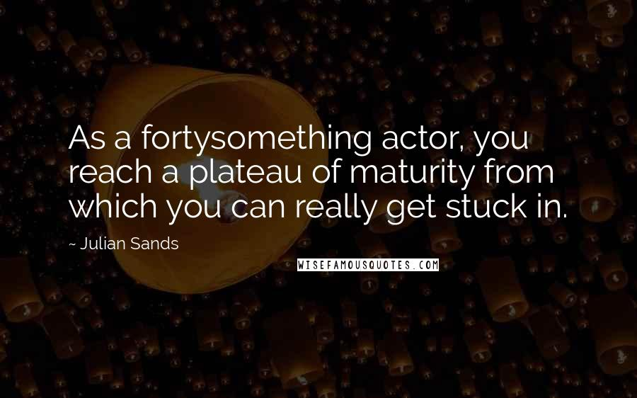 Julian Sands quotes: As a fortysomething actor, you reach a plateau of maturity from which you can really get stuck in.
