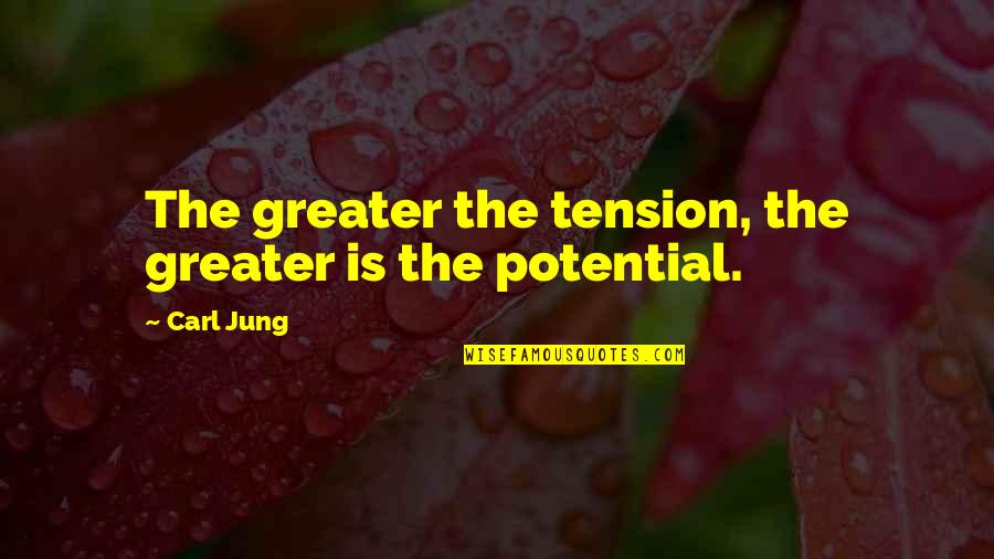 Jung Carl Quotes By Carl Jung: The greater the tension, the greater is the