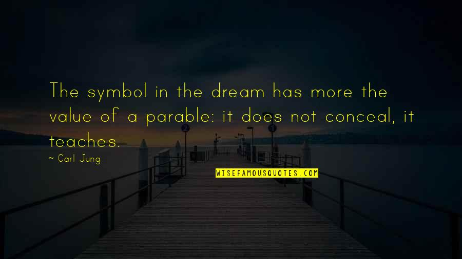 Jung Carl Quotes By Carl Jung: The symbol in the dream has more the