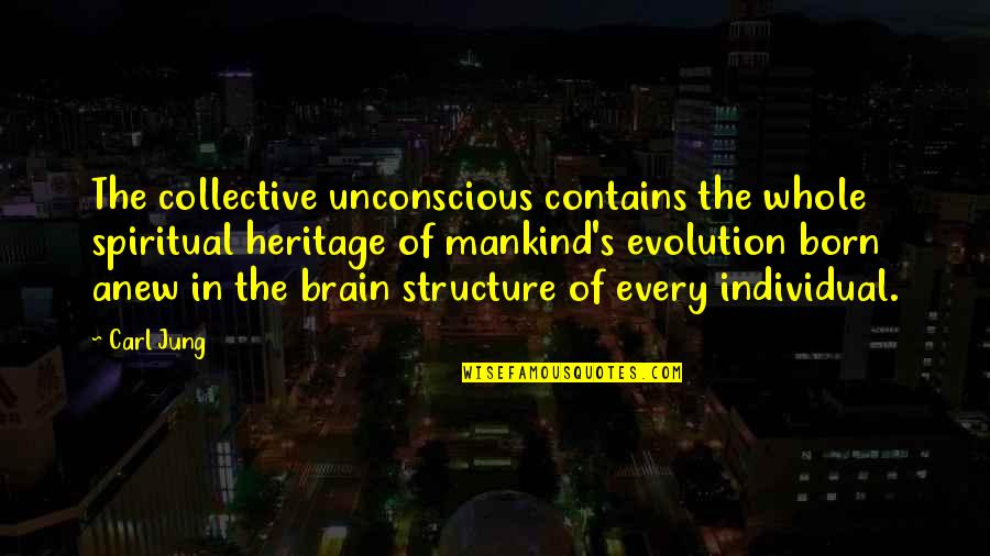 Jung Carl Quotes By Carl Jung: The collective unconscious contains the whole spiritual heritage