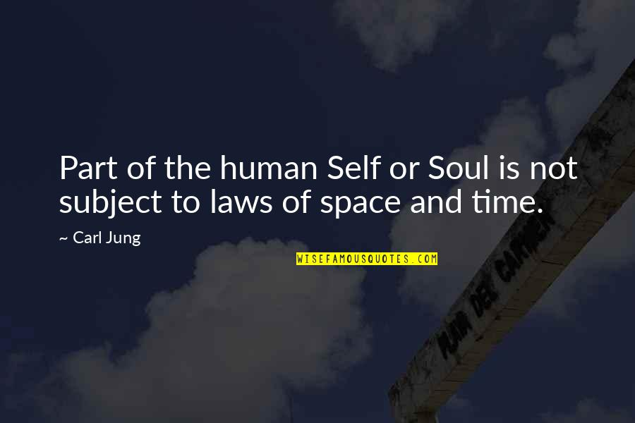 Jung Carl Quotes By Carl Jung: Part of the human Self or Soul is
