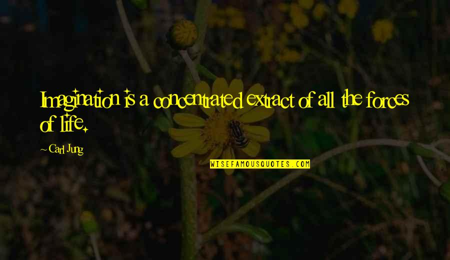 Jung Carl Quotes By Carl Jung: Imagination is a concentrated extract of all the