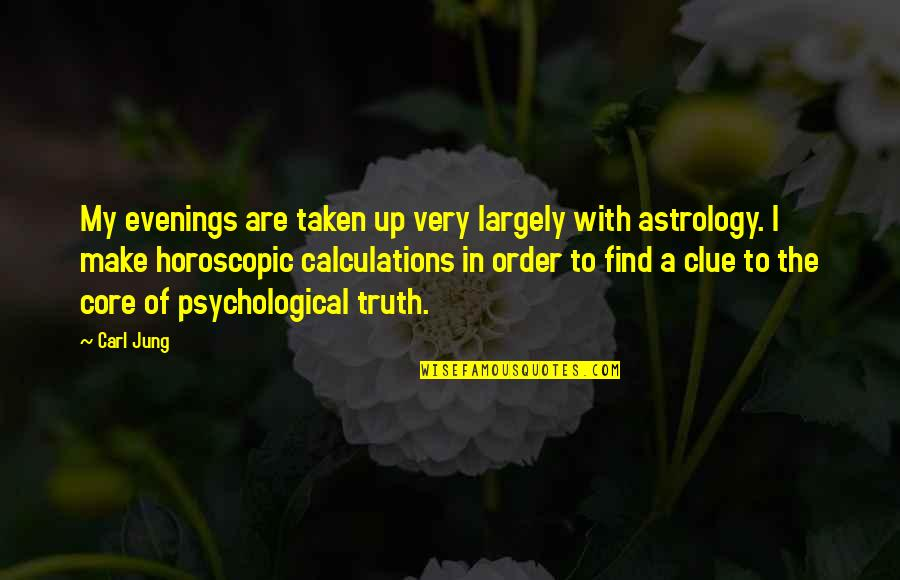 Jung Carl Quotes By Carl Jung: My evenings are taken up very largely with