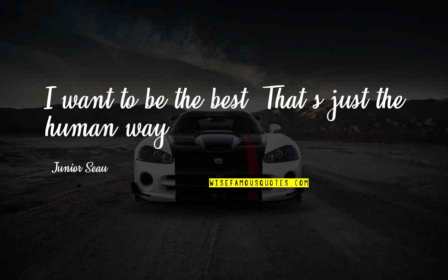 Junior Seau Quotes By Junior Seau: I want to be the best. That's just