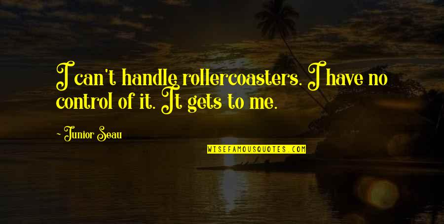 Junior Seau Quotes By Junior Seau: I can't handle rollercoasters. I have no control