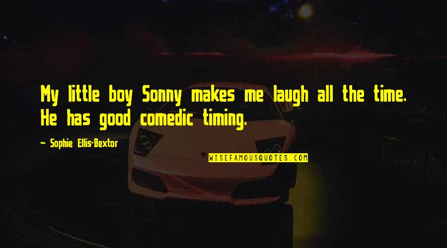 Just A Little More Time Quotes By Sophie Ellis-Bextor: My little boy Sonny makes me laugh all