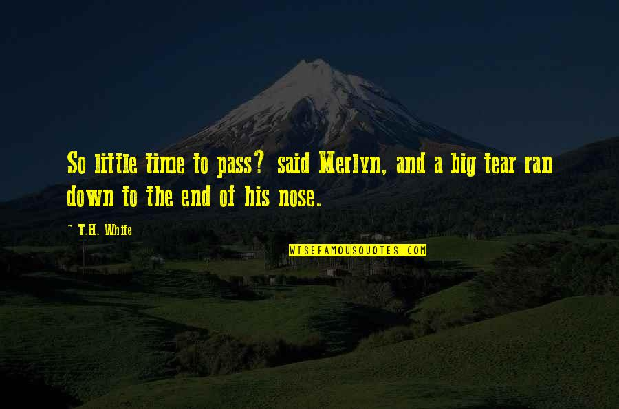 Just A Little More Time Quotes By T.H. White: So little time to pass? said Merlyn, and