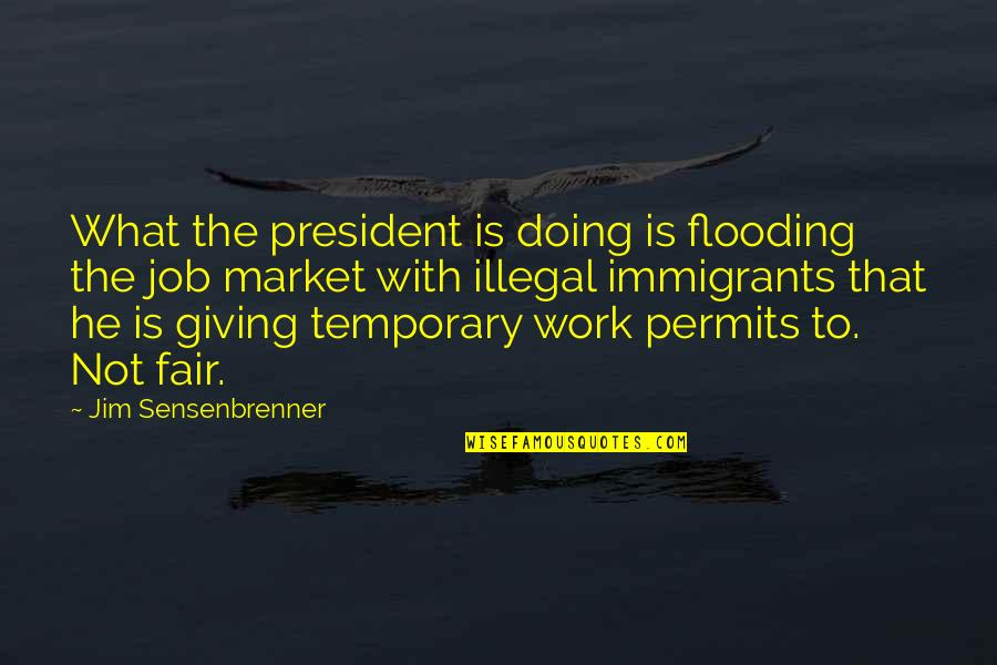 Just Doing My Job Quotes By Jim Sensenbrenner: What the president is doing is flooding the