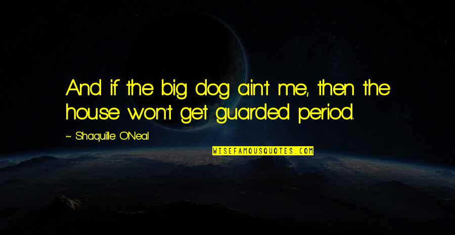 Just Me And My Dog Quotes By Shaquille O'Neal: And if the big dog ain't me, then