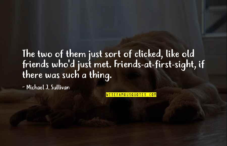 Just Met You And I Like You Quotes By Michael J. Sullivan: The two of them just sort of clicked,