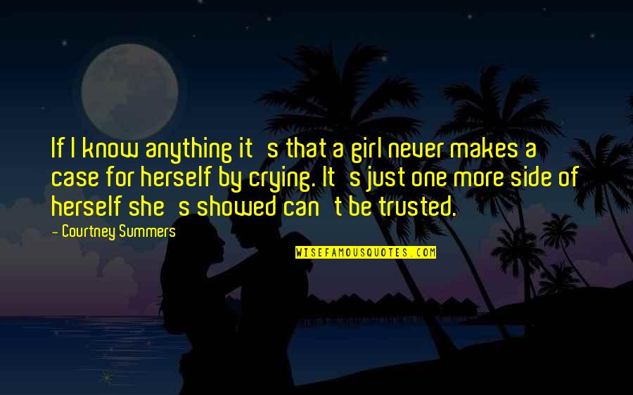 Just One Girl Quotes By Courtney Summers: If I know anything it's that a girl
