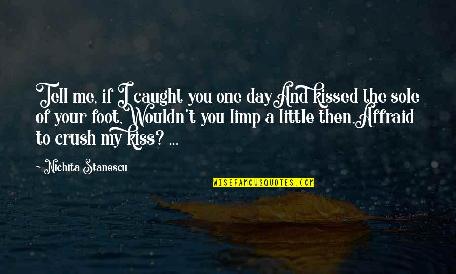 Just One Kiss Quotes By Nichita Stanescu: Tell me, if I caught you one dayAnd