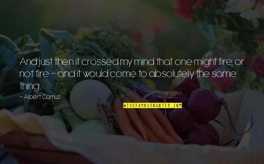 Just One Thing Quotes By Albert Camus: And just then it crossed my mind that