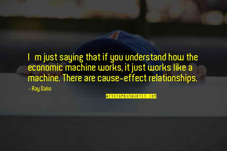 Just Saying It Quotes By Ray Dalio: I'm just saying that if you understand how