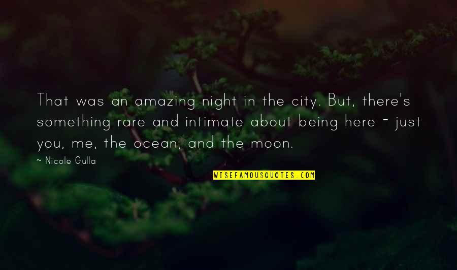 Just Something About You Quotes By Nicole Gulla: That was an amazing night in the city.