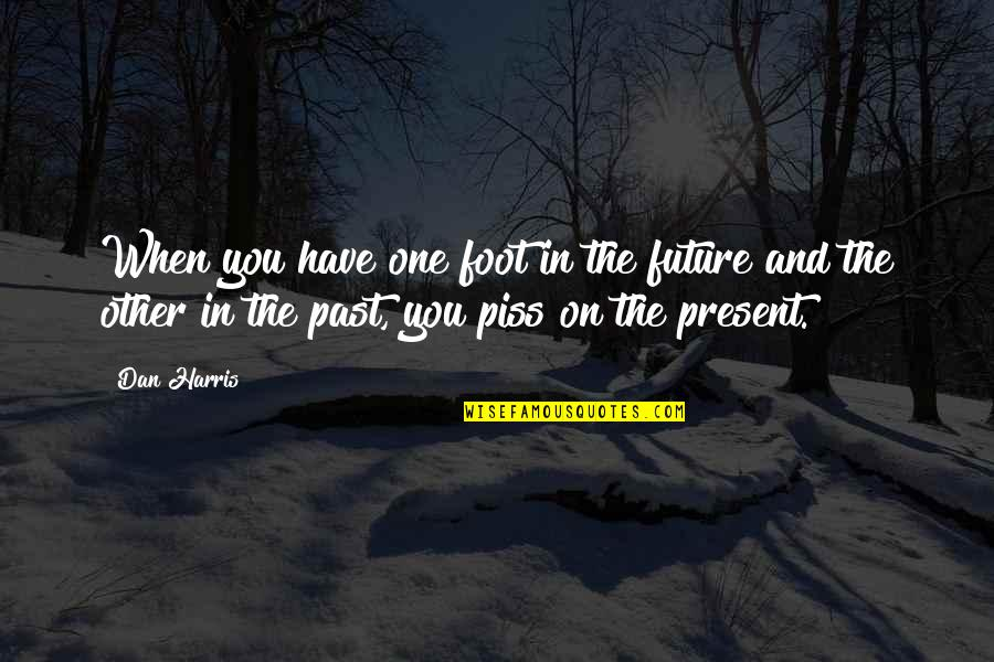 Just To Piss You Off Quotes By Dan Harris: When you have one foot in the future